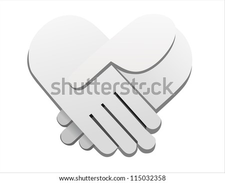 handshake abstract vector illustration - stock vector