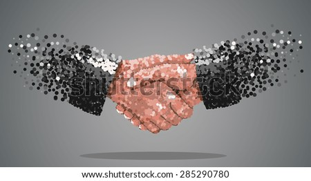 handshake. background for business and finance.Vector abstract - stock vector