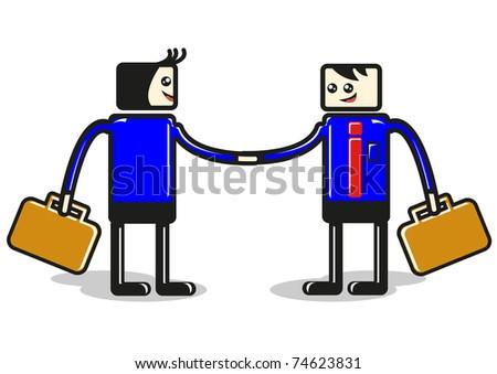 handshake by vector - stock vector