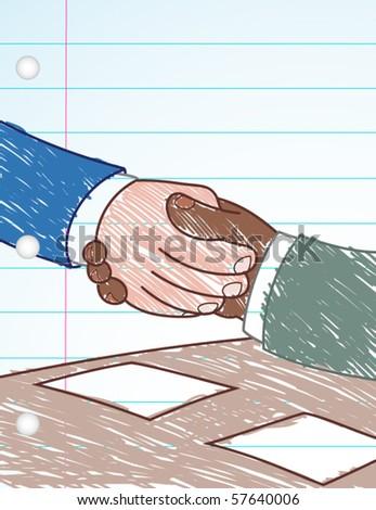 Handshake Deal - vector illustration - stock vector