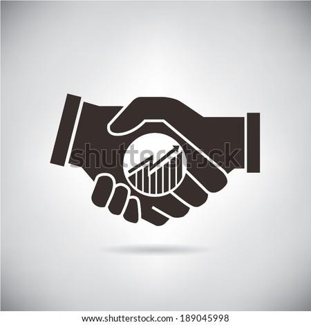 handshake, deals, joint venture - stock vector