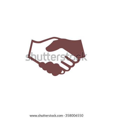 Handshake for business and finance. Colorful vector icon. Simple retro color modern illustration pictogram. Collection concept symbol for infographic project and logo - stock vector