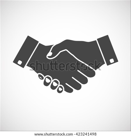 Handshake; Handshake Icon; Handshake Icon Vector; Handshake Vector; Handshake Icon EPS; Handshake Icon JPG; Handshake Icon Outline; Handshake Icon Business; Handshake icon - gray color. - stock vector
