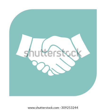 Handshake icon. - stock vector
