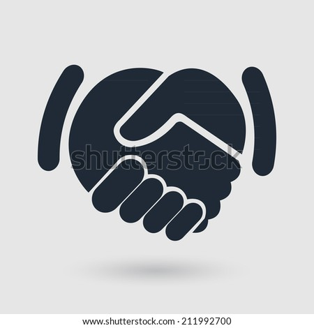 handshake icon. background for business and finance - stock vector