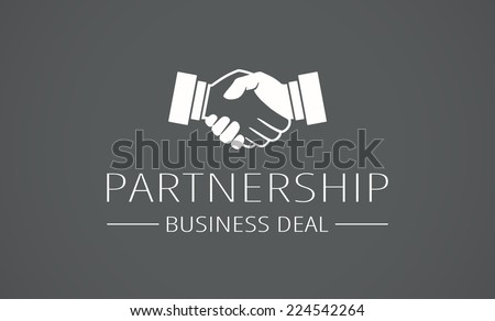 Handshake icon. Business concept - stock vector