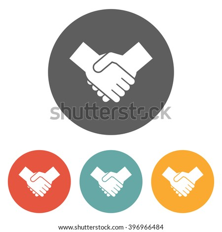 handshake icon, deal icon , agreement icon  - stock vector