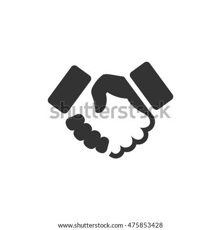 hands shaking forming heart hand vector stock vector