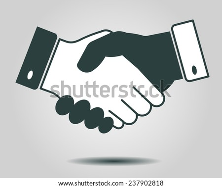 handshake icon, partnership, business finance concept - vector illustration fully editable, you can change form and color - stock vector