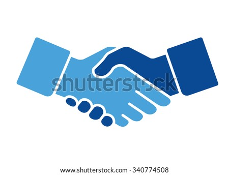 Handshake Icon, vector illustration - stock vector