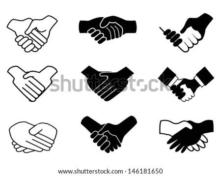 handshake icons  - stock vector