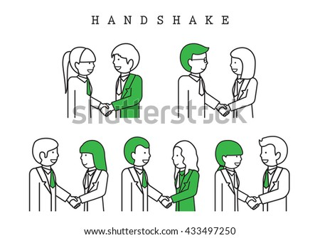 Handshake - Isolated On White Background-Vector Illustration, Graphic Design.Business Concept And Content For Web,Websites,Magazine Page,Print,Presentation Templates And Promotional Materials - stock vector