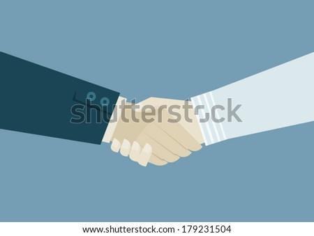 handshake of business - stock vector