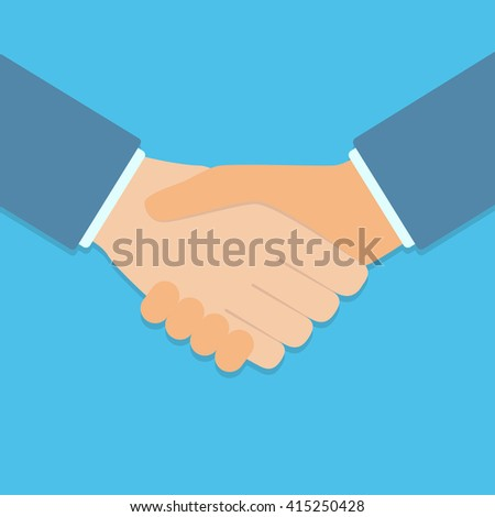Handshake of business partners isolated on background