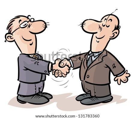 Handshake of businessmen. - stock vector