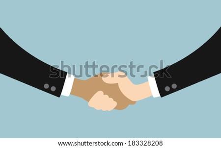 Handshake, success business concept design - stock vector