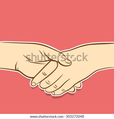 handshake symbol or metting concept design vector