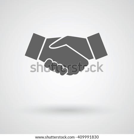 handshake vector icon - stock vector