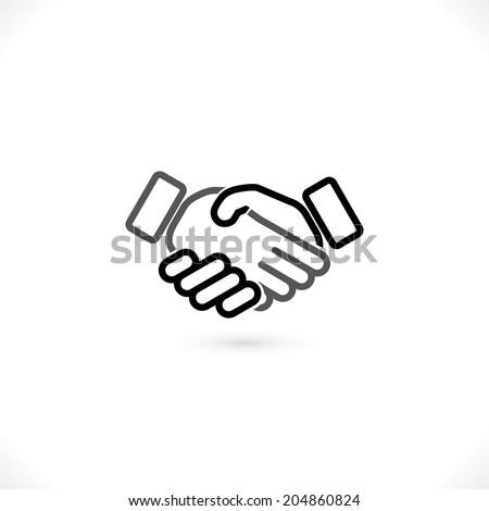 handshake vector icon. eps10 - stock vector