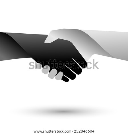 Handshake, vector illustration - stock vector