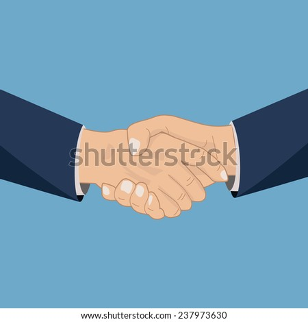Handshaking icon, vector illustration