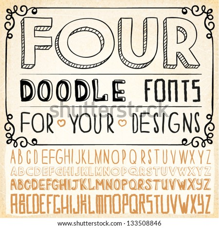 Vector Hand Drawn Fonts