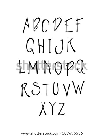 Handwritten Alphabet Made In Vector Fancy ABC Beautiful Design Elements
