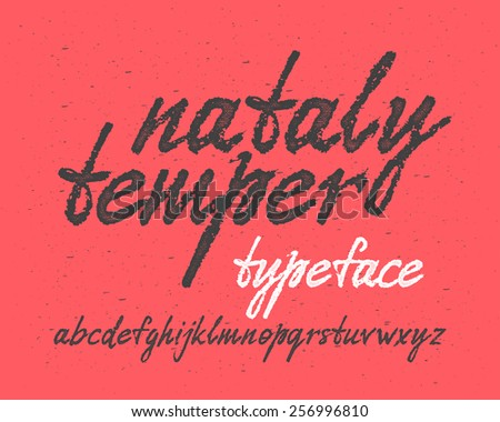Handwritten expressive font - stock vector