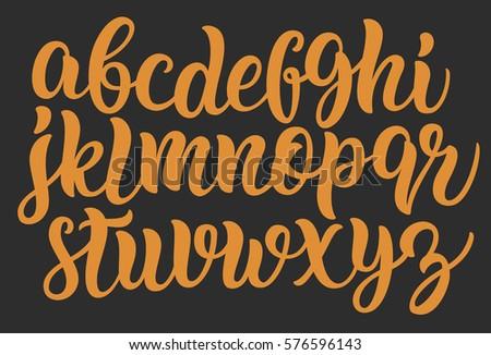 Letters in cursive font