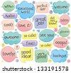 Handwritten Phrases In Speech Balloons  - stock vector