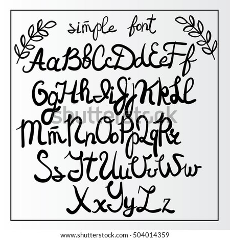 Handwritten Simple Font Hand Lettering And Custom Typography Art For Designs Logo Cards