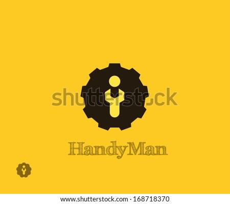 HandyMan symbol - stock vector