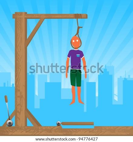 hang man - stock vector