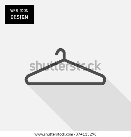 Hanger icon isolated on background great for any use.