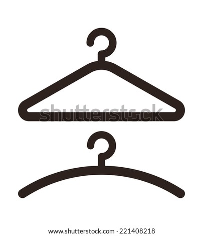 Hanger icon isolated on white background - stock vector