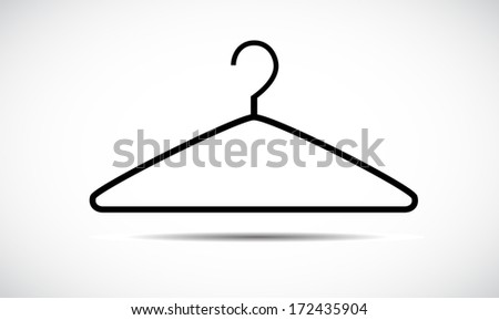 Hanger icon isolated on white background. VECTOR illustration. - stock vector