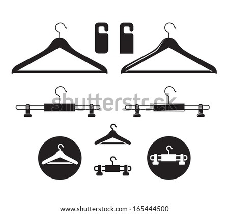 Hanger icon. Vector format - stock vector