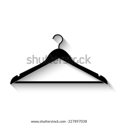 hanger icon - vector illustration with shadow - stock vector