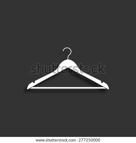 Hanger icon with shadow - vector illustration - stock vector