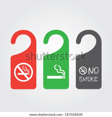 hanger tags for no smoking and smoking area  - stock vector