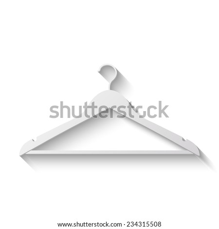 hanger vector icon - paper illustration - stock vector
