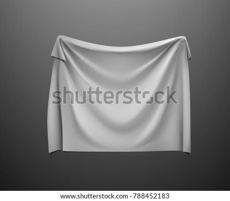 Hanging Empty White Flag Fabric Cloth Stock Vector ...