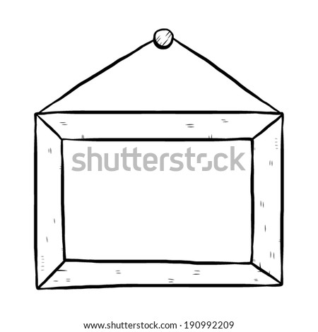 Hanging Frame Cartoon Vector Illustration Black Stock Vector ...
