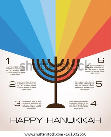 hanukkah infographics - stock vector
