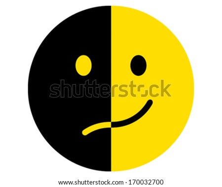 Happy and Sad - stock vector