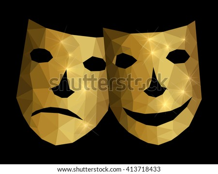Happy and unhappy mask