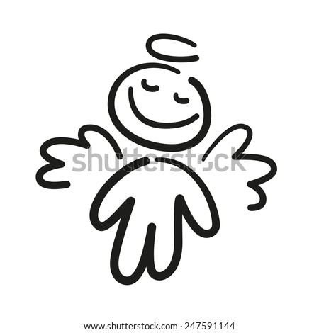 happy angel dream - stock vector