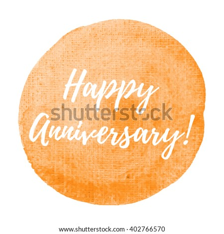 Happy Anniversary Card Celebration Poster Logo Stock Photo (Photo ...