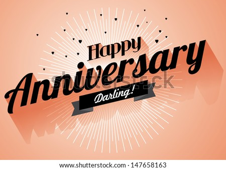 Happy anniversary greeting template vectorillustration stock photo