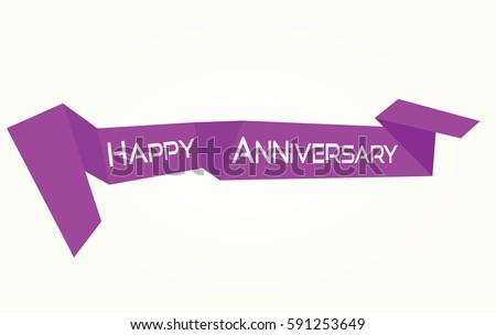 Happy anniversary vector banner stock vector  shutterstock